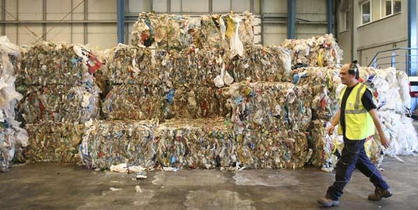 Planta de reciclaje de residuos
