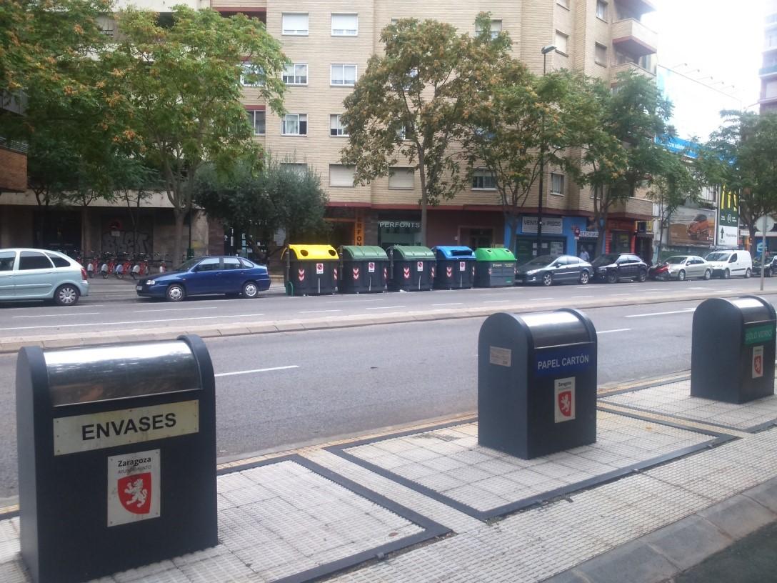 Distintos tipos de contenedores de reciclaje