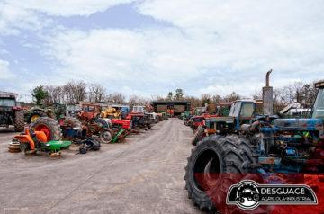 Ejemplo de desguace de maquinaria agrícola