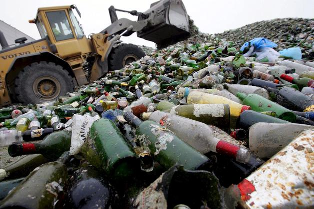 Residuos inorgánicos en vertedero