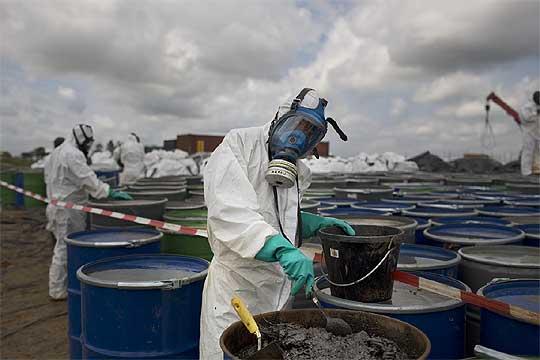 Tratamiento de residuos sólidos tóxicos