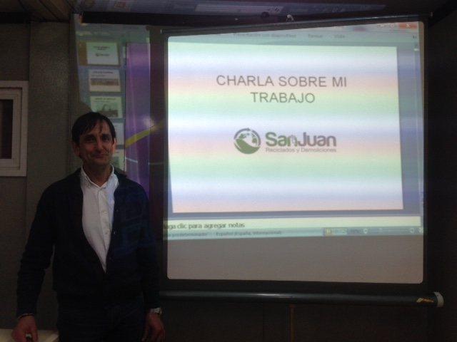 Presentación charla de la visita del colegio Río Gállego