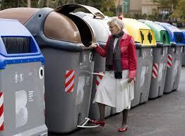 Contenedores de reciclaje en Barcelona