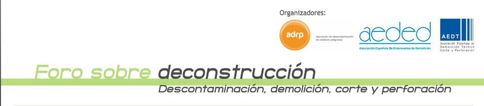 Foro de deconstrucción organizado por AEDED