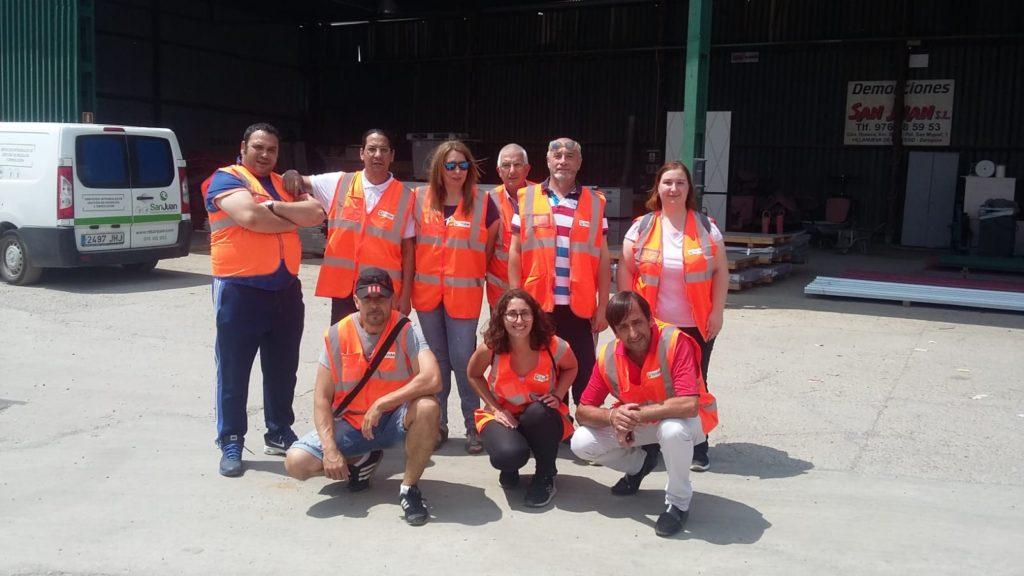 Visita del curso de Gestión de residuos de la Fundación Laboral de la Construcción a las instalaciones de RD San Juan