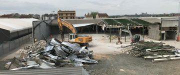 demolición supermercado Monzón